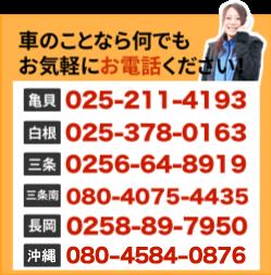 各店の電話番号